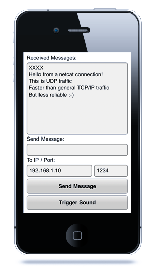 Example of UDPSocket extension on AIR for iOS
